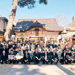 丸ヨ建設の新年会2020(岡崎市の龍城神社)